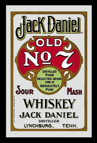 Merchandiseonline Jack Daniels - Bar Mirror - Old No. 7 Sour Mash (Red) (Size: 9