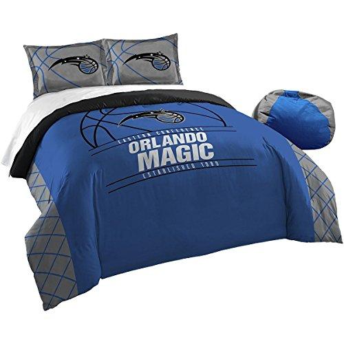 Officially Licensed NBA Orlando Magic Reverse Slam Full/Queen Comforter and 2 Sham Set