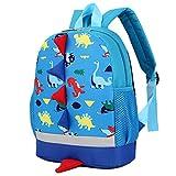 Children's Mini Backpack, Toddler Boys Girls Lightweight Dinosaur Animals Backpack School Bag, Best Gift For 3-8 years old Kids (Blue)