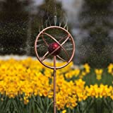 Decorative Copper Finish Sprinkler with Red Globe