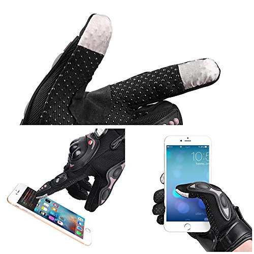 Yescom Motorcycle Full Finger Gloves Motorbike Motocross Cycling Racing Sports Outdoor Screen Touch XL