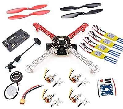 USAQ F450 Quadcopter Drone Kit APM2.8 Flight Controller GPS PDB 30A ESC 2212 Motor from USAQ