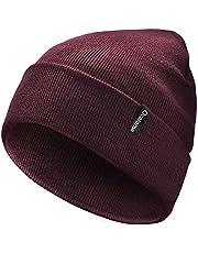 Ocatoma Beanie for Men Women Acrylic Knit Cuffed Slouchy Men's Daily Warm Hat Toque Unisex Gifts for Men Women Boyfriend Him