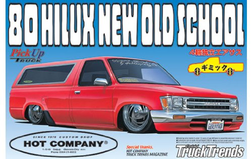 (Aoshima Models 1/24 1980 Toyota Hilux New Old School Low Rider)