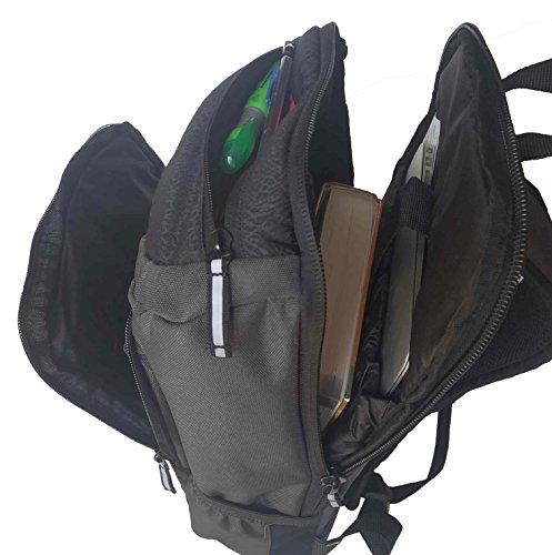 cd070b1f758 Nike Jordan Gray Unconscious Laptop Storage Pack Backpack (Gray Black)