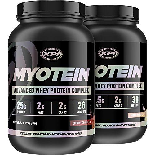 Myotein Premium Protein (2 Pack Choc & Vanilla) - Best Whey Protein Powder / Shake - Hydrolysate, Isolate, Concentrate & Micellar Casein