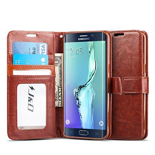 J&D Galaxy S6 Edge Plus Case, [Wallet Stand] [Slim Fit] Heavy Duty Protective Shock Resistant Flip Cover Wallet Case for Samsung Galaxy S6 Edge Plus - [Not for Galaxy S6/Galaxy S6 Edge]