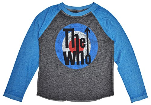 The Who Toddlers or Baby T-Shirt Mod Target Logo Print Raglan Burnout (Charcoal, 3T) Retro Burnout T-shirt