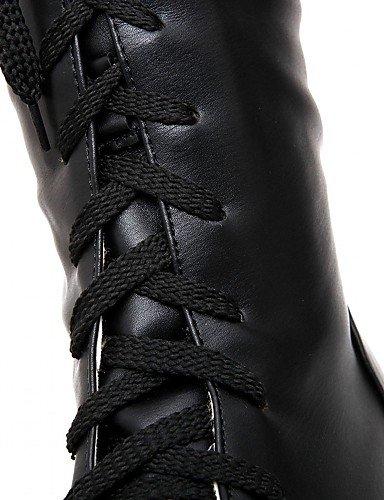 XZZ/ Damen-High Heels-Hochzeit / Büro / Kleid / Lässig / Party & Festivität-Kunststoff-Blockabsatz-Absätze / Cowboy / Western Stiefel / black-us6.5-7 / eu37 / uk4.5-5 / cn37