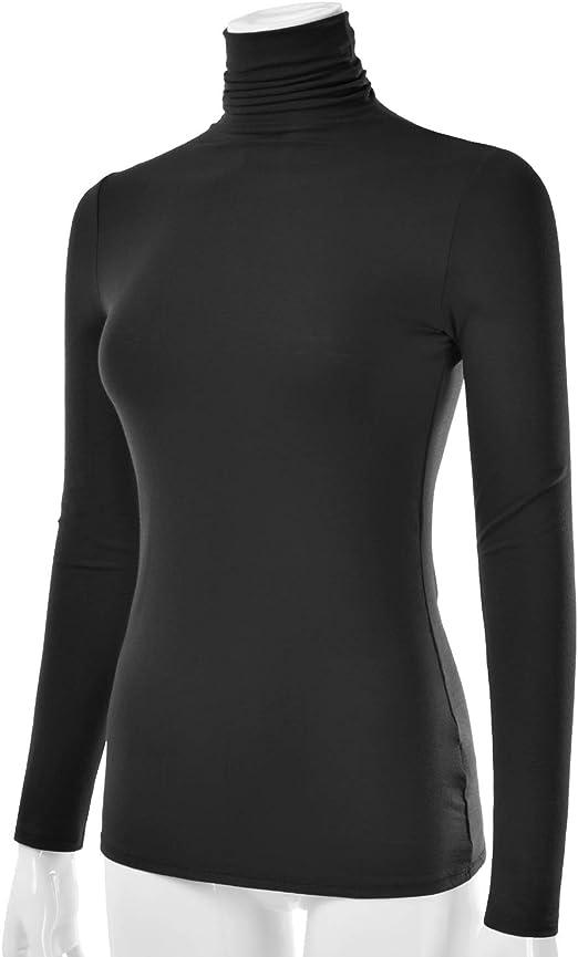 S-3XL MINEFREE Womens Lightweight Long Sleeve Turtleneck Top Pullover Sweater