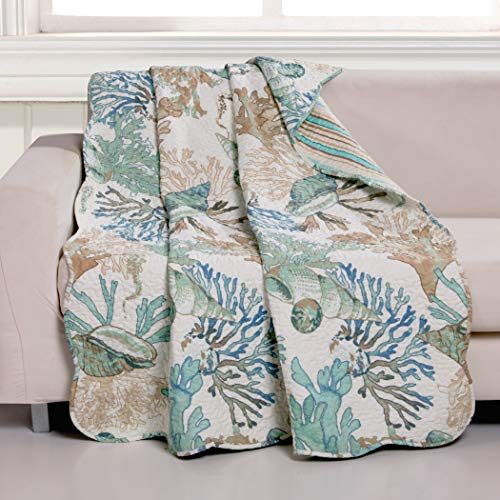 Barefoot Bungalow Atlantis Throw Blanket 50x60-inch Jade