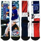 Toronto Blue Jays Edwin Encarnacion Player Photo Mega Flag Crew Socks