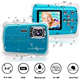 "JYSXT Kids Camera, Waterproof Kids Camera Best Gifts for Girls/Boys 21MP HD Underwater Digital Camera with 2.0"" LCD, 8 X Digital Zoom, Flash and Mic"