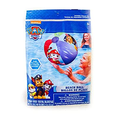 Paw Patrol Pool Swim Floats Swing Ring and Beach Ball Bundle: Toys & Games