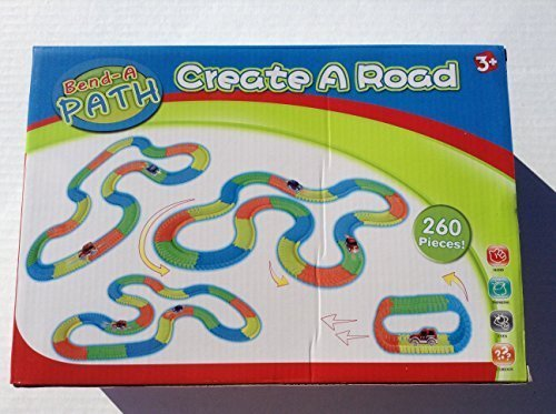 Bend A Path 13-ft.Track-Create A Road by MoBetta 270 Pieces with Light Up SUVs