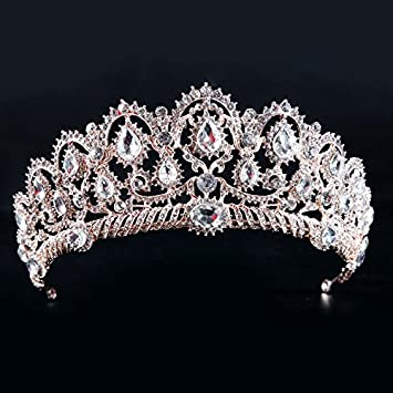 Amazon rose gold quinceanera tiara crystal tiara wedding rose gold quinceanera tiara crystal tiara wedding crown headpiece hair band accessory junglespirit Choice Image