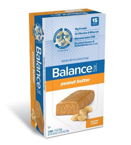 Balance Bar Company Bar, Peanut Butter, 1.76-Ounce (Pack of 15) ()