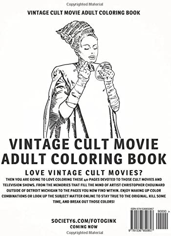 Cult Movie Adult Coloring Book Vintage Cult Movie And Television S Most Famous Scenes By Chouinard Christopher Amazon Ae