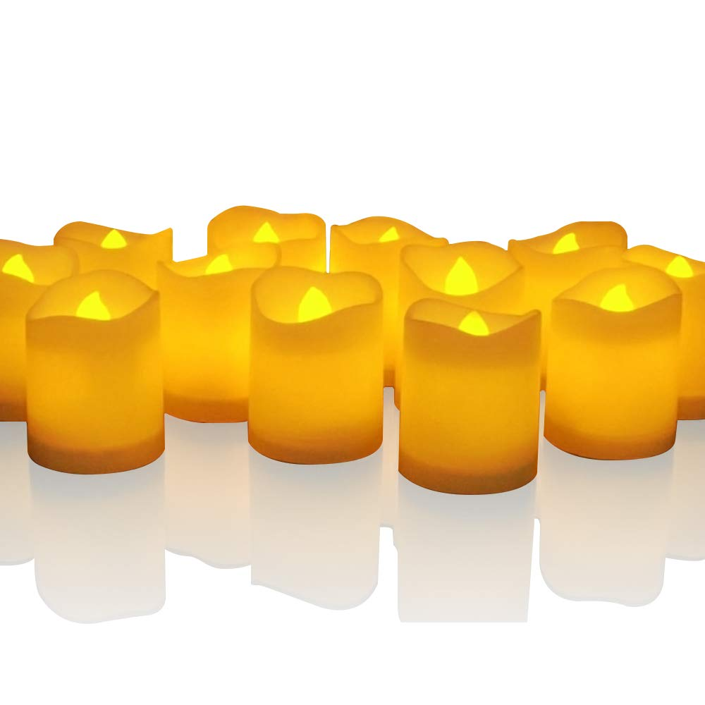 Novelty Place [Longest Lasting Battery Operated Flickering Flameless LED Votive Candles (Pack of 96)