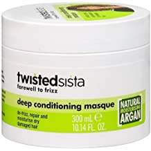 Twisted Sista Farewell to Frizz, Deep Hair Conditioning Masque with Natural Argan, 10.14 Oz
