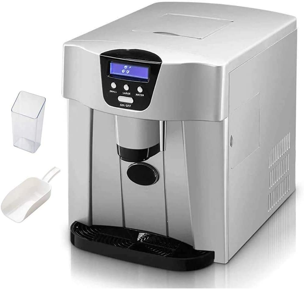 Countertop Ice Maker for Home, 9 Bullet Ice Cubes Ready in 6 Mins, Make 15-20Kg Ice in 24 Hrs,1.1L Water Tank,Portable Ice Machine