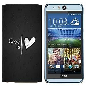 EJOOY---Cubierta de la caja de protección para la piel dura ** HTC Desire Eye M910x ** --Dios es amor del corazón de Jesús