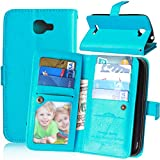 Fierce 2 7040T, Pop Icon A564C Case,YiLin [Wallet Case] 9 Card Holder [Detachable Wallet Folio] Premium PU Leather Cover Case with [Card Slots] [Stand] for Alcatel One Touch Fierce 2 7040T [Blue]