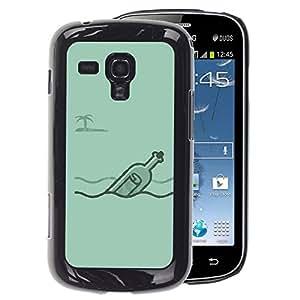 A-type Arte & diseño plástico duro Fundas Cover Cubre Hard Case Cover para Samsung Galaxy S Duos S7562 (Message Captain Alone Blue)