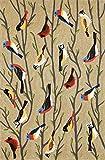 Liora Manne Whimsy Resting Birds Indoor/Outdoor Rug, Indoor/Outdoor, 7'6 x 9'6, Multicolor