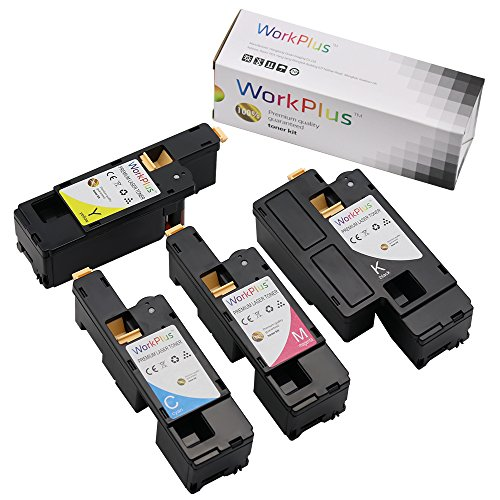 WorkPlus Replacement Toner Cartridge High Yield Compatible with Xerox Phaser 6020, 6022, WorkCentre 6025, 6027 Printers (4 pcs, Black 106R02759, Magenta 106R02757, Cyan 106R02756, Yellow 106R02758)