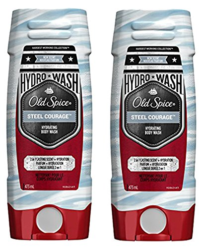 Old Spice Hydrating Body Wash - Old Spice Hydro Body Wash Hardest Working Collection Steel Courage, 2 Pack, 16.0 oz Each, 32 Oz Total