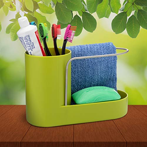 Convenient Kitchen Sink Organizer, Sink Caddy, Sinkware, Sponge Holder, Soap Dish, Brushes and Scrubbers Holder, Bathroom Caddy, Bathroom Organizer | 2 Top Quality Sponges FREE by SKA HomeStore (Image #2)