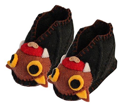 Silk Road Bazaar Bat Infant Zooties, Black, One - Booties Baby Felted