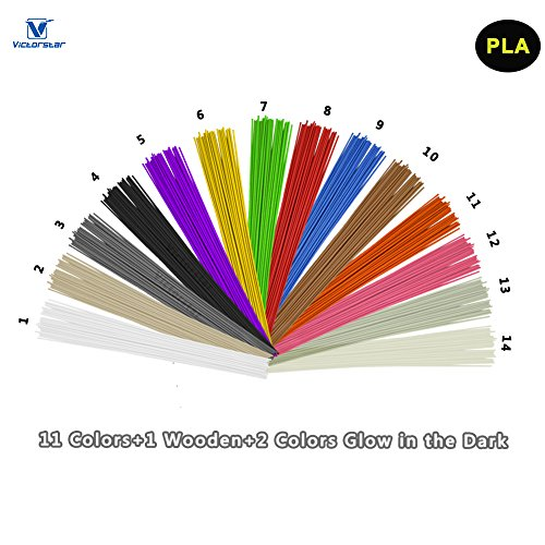 victorstar pla 3d stylo lin aire filament recharge 14 couleurs 140 m tres. Black Bedroom Furniture Sets. Home Design Ideas