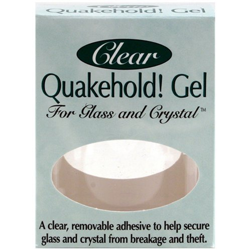 Quakehold! 22111 Gel for Glass and Crystal, Clear by Quakehold! (Quakehold Gel)
