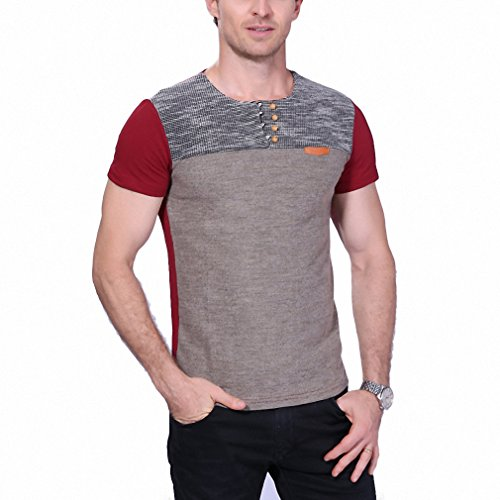 Red Dwarf Costumes Sale (Summer Fashion Men's T Shirt Casual Patchwork Short Sleeve T Shirt Mens Clothing Trend Casual Slim Fit Hip-Hop Top Tees 5XL Red XL)