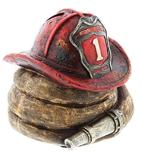 Joy of Giving Firefighter Themed Coin Bank Figurine