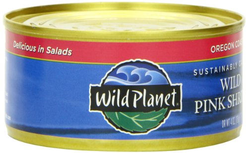 Wild Planet Wild Pink Shrimp, No Phospates, 4-Ounce Cans (Pack of 12)