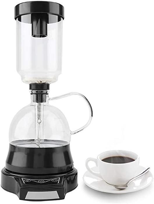 YUCHENGTECH Syphon Siphon Coffee Maker Brewer Brewing Machine Electric Siphon Coffee Pot (110V, Black)