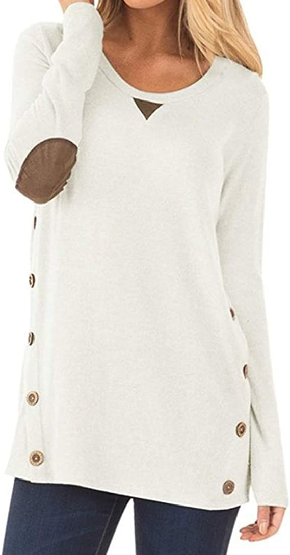 Womens Casual Twist-Front Top Long Sleeve