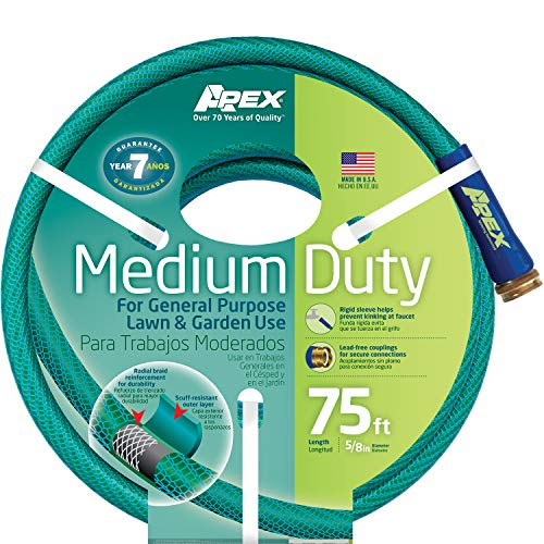 Apex, 8535-75 Medium Duty Garden Hose, 5/8-Inch by 75 Feet