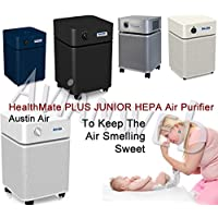 Austin Air Healthmate Junior PLUS Air Purifier – Providing Relief For the Chemically Sensitive (Sandstone)