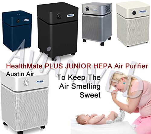 Austin Air Healthmate Junior PLUS Air Purifier - Providing Relief For the Chemically Sensitive (Sandstone)
