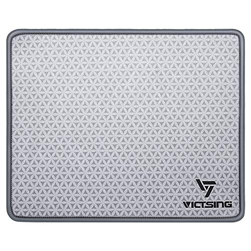 VicTsing Soft Mouse Pad, Premium-Textured Mouse Mat Pad with Stitched Edges, Non-Slip Rubber Base Mousepad for Laptop, Computer & PC, 10.2×8.3×0.08 inches