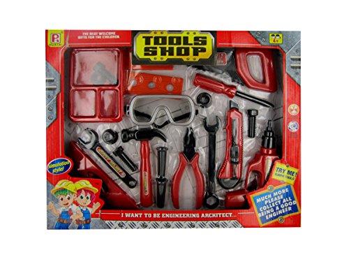 Bulk Buys OC752-4 Kids Tool Shop Play Set, 4 Piece