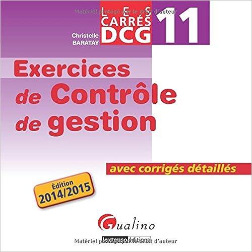 Read DCG 11 Exercices de contrôle de gestion : Avec corrigés détaillés pdf