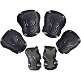 Leadpo Adult / Child Black Blue Color Knee Pads Elbow Pads Wrist Guards 3 In 1 Protective Gear Set For Multi Sports Outdoor Activities Mens Cycling Helmet