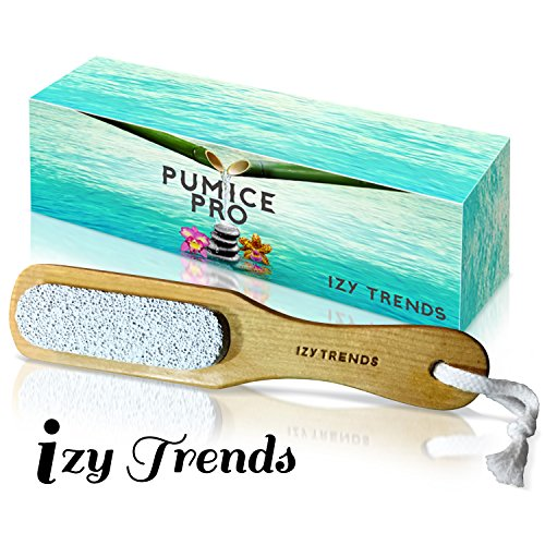Pumice Stone - Better Grip With Handle And Less Mess - The Best Callus Remover Brush With 100% Pumice - Exfoliating Scrubber - Best Foot File Pedicure Tools (Power Trend Tools)