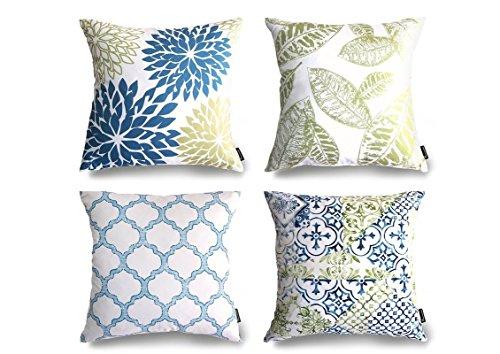 Phantoscope-New-Living-BlueGreen-Decorative-Throw-Pillow-Case-Set-of-4-