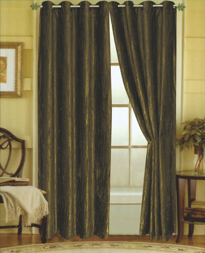 Crushed Panel (Editex Home Textiles Susane Crushed Velvet Curtain Panel with Grommet, Forest, Set of 2)